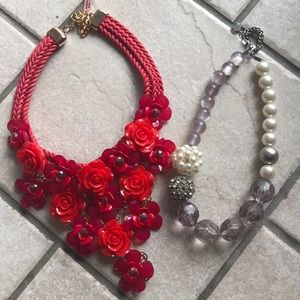 Chunky costume necklaces